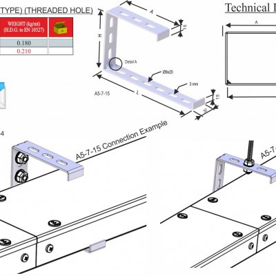 Trunking Cable Trays Tray Carriers (A5-7 Series)